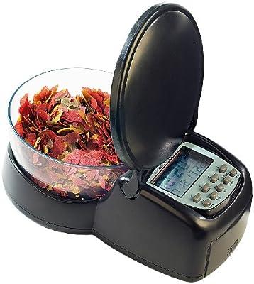 infactory Futterautomat Fische: Zeitgesteuerter Futter-Automat für Fisch-Aquarien (Aquarium Futterautomat)