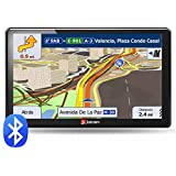 Junsun Car Sat Nav Windows CE 6.0 7 inch Capacitive Screen Truck GPS Navigation System with UK and Europe Maps 8GB/256MB (with Bluetooth)