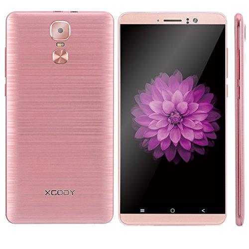 3g Smartphone Entsperrt, Xgody Y14 6 - Zoll Android 5.1 Dual SIM Kostenlose Handy, 1GB+8GB Unterstützung Micro SD Karte, MTK6580 Quad Core Dual Kamera (Rose Gold) 3g Mobile Video Support