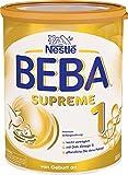Nestlé BEBA SUPREME 1 Anfangsnahrung: von Geburt an, Pulver, hypo-allergene Säuglingsanfangsnahrung, mit pflanzlichen Ölen, 1er Pack (1 x 800g)