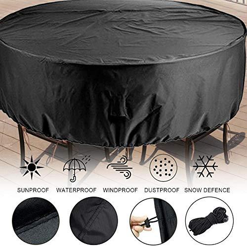 cheerfulus Runde Möbel-Abdeckung im Freien, verblassungsfeste große wasserdichte runde Patio-Tabellen-Stuhl-gesetzte Abdeckung für Garten -