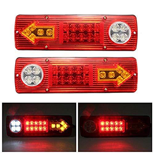 Preisvergleich Produktbild 2 x Anhänger-Rücklichter 19 LED Markierung Rückleuchten Bremsleuchten 12 V LKW Caravan Auto Rücklicht Stop Rückfahrleuchte Wasserdicht Pfeile Lampe