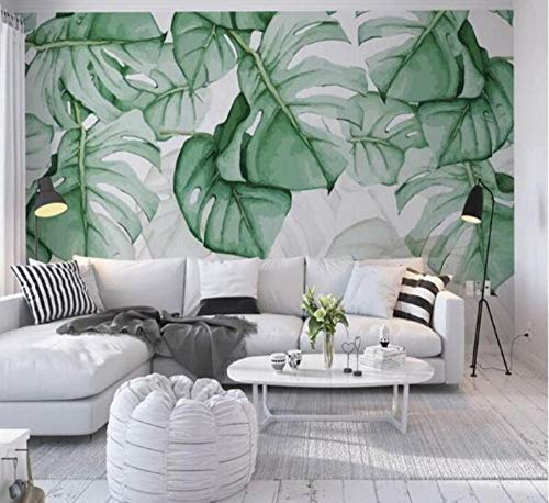 Wallpapers for Walls 3D Wandbilder Tapeten Wohnkultur Wohnzimmer Green Banana Leaf 280x200cm -