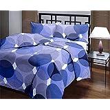 Factorywala Super Soft Blue Polka Print Reversible Poly Cotton Single Bed Size 52 * 80 Blue Dohar/Ac Blanket