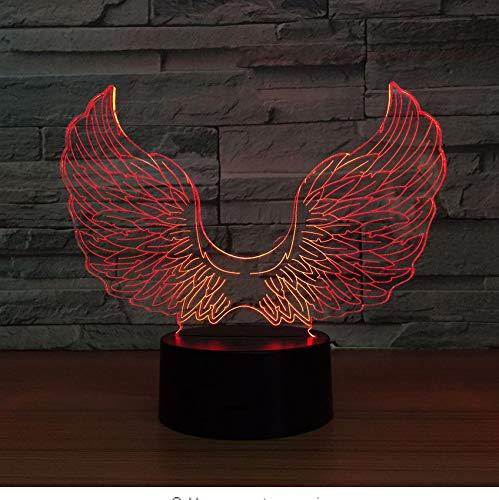 Angel Wings 7 Farbe Lampe 3D Visuelle Led-Nachtlichter Für Kinder Touch Usb Baby Sleeping Nightlight Licht (Verschiedene Arten Von Angel Wings)