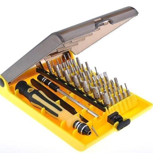 Compact Art Design Kit (yeshi-Werkzeugsatz Präzisions-Schraubendreher 45Wartung Kit Compact Reparatur Werkzeug Opening Pry Set mit Pinzette Verlängerung Schaft für Handy Laptop Pad etc. zerlegen, 45-in-1)