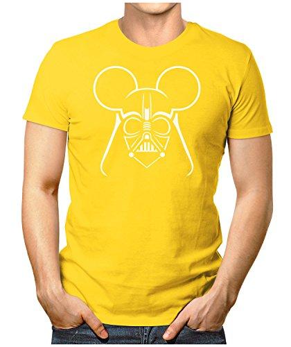 PRILANO Herren Fun T-Shirt - DARTH-VADER-MOUSE - Small bis 5XL - NEU Gelb