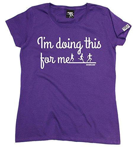 Personal Best Premium - T-shirt - Slogan - Manches Courtes - Femme Violet