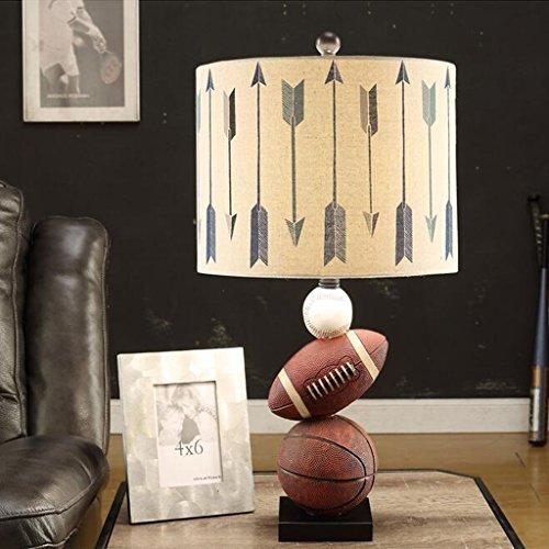 LHP Kindertischlampe moderne kreative minimalistischen Schlafzimmer Lampe Auge Studie Basketball amerikanischer Junge Persönlichkeit Nachttischlampen Energiesparen ( größe : 33*67CM )