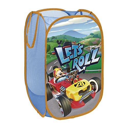 Arditex WD11623 Cesta pongotodo guarda juguetes, diseño Mickey Mouse Roadster Racers