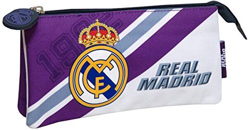 Real Madrid CF- Portatodo Doble Bordado, Multicolor, 22 cm (CYP PT-272-RM)