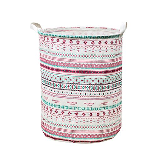 ❤️Amlaiworld Cesta de ropa impermeable del lienzo Cesta de almacen