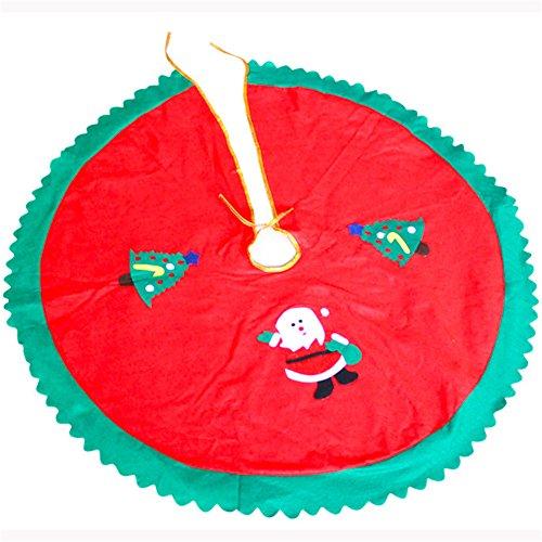 zhouba Weihnachtsbaum Rock Santa Claus Muster Rund Home Decor Xmas Festive Supplies