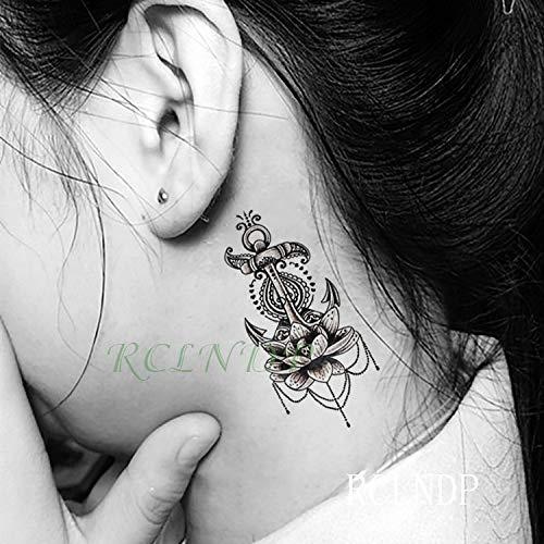 BRT Wasserdicht Temporäre Tattoo Sticker Schöne Blume Rose Fake Tatto Flash Tatoo Tatouage Hand Back Foot Arm For Girl Women Men-2 Pack) veilchen