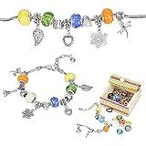 Sun studio Charm Armband Kit DIY Schmuck Bastelset mädchen Handwerk Perle überzogen mit Silber Kette schmuck mädchen für Basteln MEHRWEG (# 1) (Leuchtend)