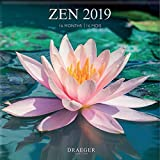 DRAEGER 79003101 Grand calendrier mural 29x29cm Zen 2019