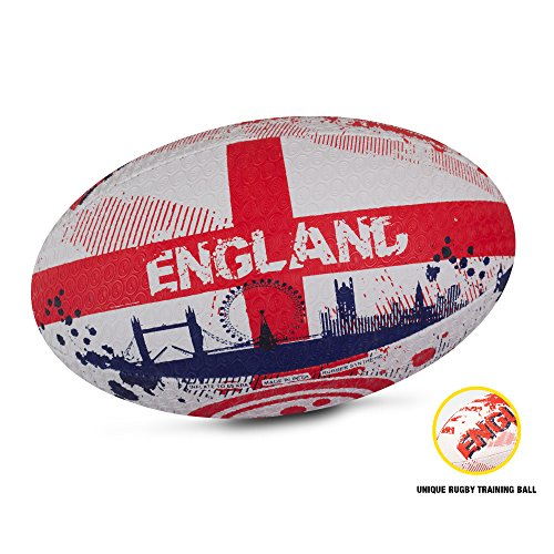 OPTIMUM Men's Nations Rugby Ball-England, Größe 5, bunt