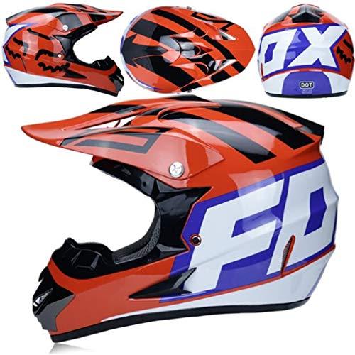 Erwachsener Motorrad Reithelm Persönlichkeit Racing Gesicht Helm Vier Jahreszeiten Helm (7 Ausführungen) (Farbe : G, größe : S)