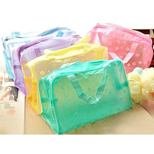 Preisvergleich Produktbild HuntGold Floral Transparent bilden Beutel Kosmetik Geldbeutel Waschen Bade Taschen Wasserdichte Herausgehen (grün)