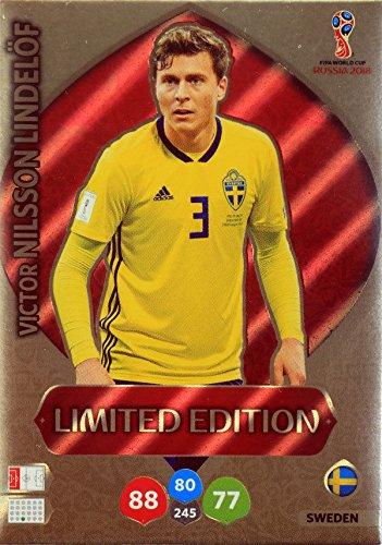 Panini Adrenalyn XL WM 2018 Russland - Lindelöf Schweden Karte limited Edition (Wm-karten Limited Edition)