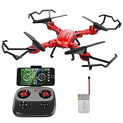 GoolRC T5W PRO 2.4G 4CH 720P HD Camera Wifi FPV Foldable RC Quadcopter Selfie Drone One-key Return Altitude Hold