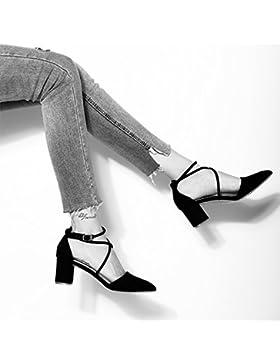 SDKIR-Tracolla incrociata dei sandali, cantante femminile con web red wild Baotou sandali, agganciare il la a...