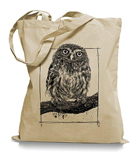 Big Owl Stoffbeutel |Eulen Eule Tragetasche Kult Sand