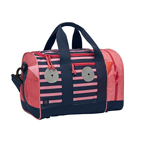 Lässig Mini Sportsbag Little Monsters, Mad Mabel Kinder-Sporttasche, Navy Korall
