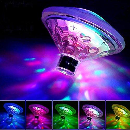 Starter Lumière de Piscine de LED, Lampe de Dérive de l'eau Flottante Alimentée par Batterie de 7 Couleurs Étang sous-Marin Imperméable D'éclairage Décorant des Jouets de Piscine pour des Enfants.