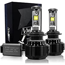 TECHMAX LED Faro Bombillas Kit de conversión H7 7200LM 60W 6000K Blanco frío CREE - 3 año de garantía