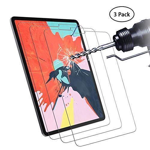 Didisky Panzerglas Hartglas Displayschutzfolie für iPad PRO 12.9 Zoll 2018, [ 3er Pack ] Kratzfest, 9H Härte, Keine Blasen, High Definition, Einfach anzuwenden, Fall-freundlich
