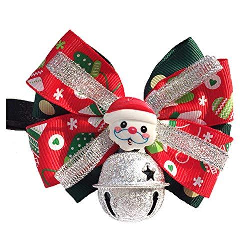 Wudi Der Hund Fliege mit Glocke Weihnachtsmann Pet Bowknothalskette für Katzen-Kätzchen-Kostüm - Kätzchen Pet Kostüm