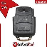 VW 3 Tasten Klappschlüssel Gehäuse Ersatz Volkswagen Seat Skoda Auto Schlüssel Neu
