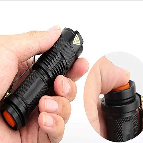 LED UV Taschenlampe UV Taschenlampe mit Zoom Funktion Mini UV Schwarzlicht Haustier Urin Flecken Detektor Skorpion Jagd -