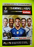 Team Cards Sammelheft Sammelalbum WM 2018 Kicker Sammelkarten Ferrero Duplo, Kinderriegel, Hanuta