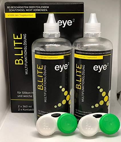 eye² b.lite Kombilösung für weiche Kontaktlinsen 2x360 ml Doppelpack