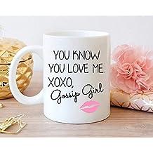 cbuyncu Gossip Girl Sexy Labios cerámica taza de leche taza 11oz tazas de café de viaje de té caliente regalo de Navidad para mujeres hombres niños él su papá hijo Hija mamá amigos oficina suministro Regalos personalizados