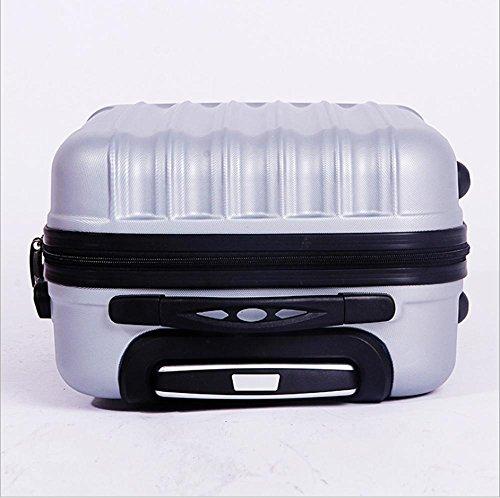 Xiuxiandianju ABS materiale esterno viaggio bagagli Trolley Case 20/24/28 pollici partita caso SuitcaseColour & formato differente (56-75L) Silver