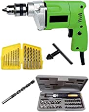 Generic 10Mm Drill Machine With Bits & 41Pcs Toolkit Color May Vary