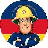 Tortenaufleger Feuerwehrmann Sam1 / 20 cm Ø