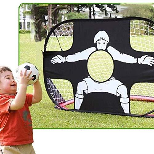 Fußballtor,ICOCO Fußball Tor Kinder Fußball Training Net Tor Tor Extra-Stabile Faltbare Tragbare Falten Football Gate Praxis Tor