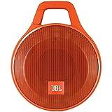 JBL Clip+ - Altavoz portátil para smartphones, tablets y MP3 (Bluetooth, recargable, robusto, resistente a salpicaduras, entrada AUX), color naranja