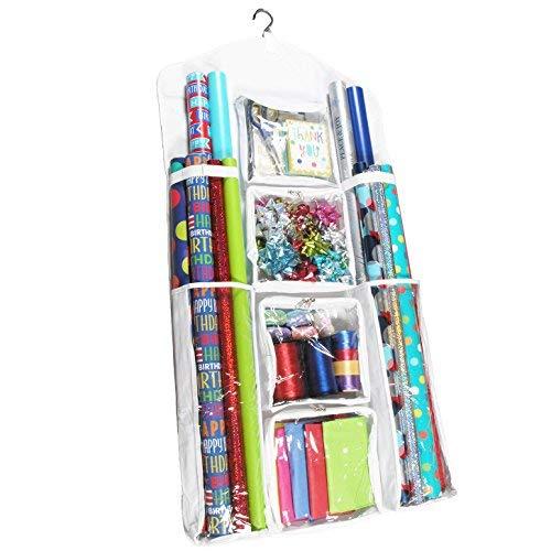 Neu. Legato Doppelseitig Zum Aufhängen der Verpackung Organizer für Geschenkpapier, Geschenktüten, und Zubehör, Extra groß (119,4x 58,4cm) & Super strapazierfähig. (Extra Kunststoff-wrap Breite)