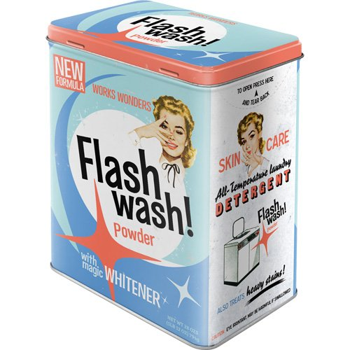 Nostalgic-Art 30124 Say it 50's Flash Wash, Vorratsdose L