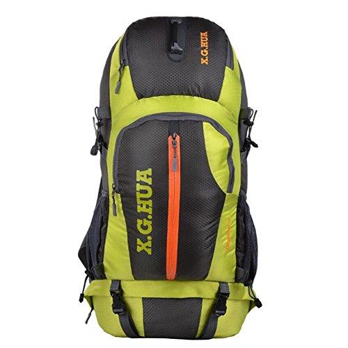 50L bolsos de montaña profesionales viajan mochila ventilación equipo de campamento , green