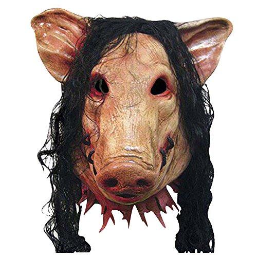 MissFox Halloween Masquerade Fiesta Cosplay Cerdo Cabeza Animal Máscara Como Cuadro