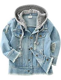 LAPLBEKE Bambina Ragazze Ragazzi Giacca Di Jeans Primavera Casuale Giubbotto  Denim Cappotto Tops 43598c32f11