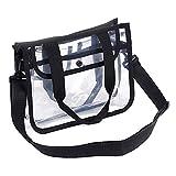 Claro bolso cosmético lavado bolsa receptora Bolsa Productos de Cuidado Personal/Productos de Belleza/Juguetes/gimnasio/piscina/gimnasio, Transparente/Negro 1Pcs