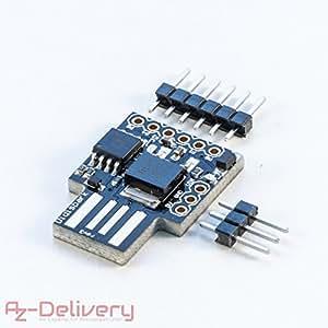 AZDelivery Digispark Rev.3 Kickstarter mit USB für Arduino, 100% kompatibles Entwiklung Development Board mit ATtiny85
