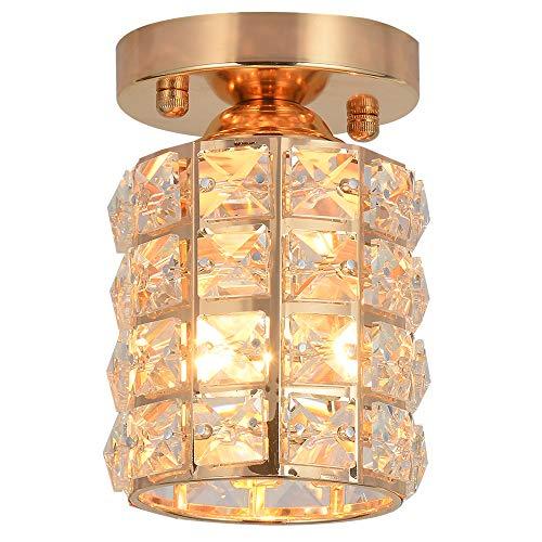 Kristall Deckenleuchte,Deckenlampe,LED Kronleuchter,Durchmesser 10cm für Schlafzimmer,Esszimmer,die Küche (Runde)